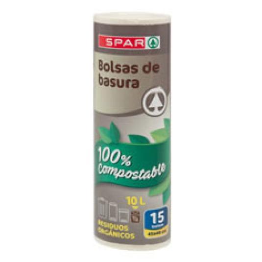BOLSA BASURA BIO COMPOSTABLE 45X48 15UD