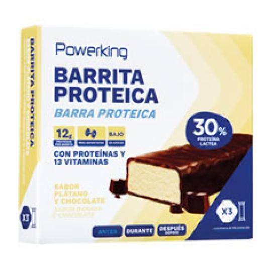BARRITA PROTEICA CHOCO/PLATANO 3X40GR