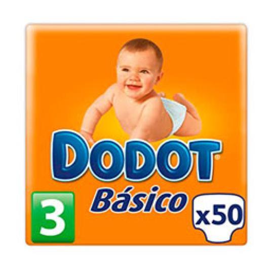 PAÑAL BASICO TALLA 3 50UD