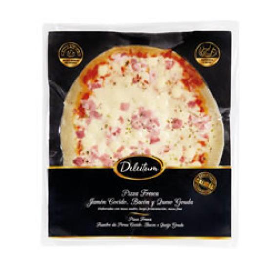 PIZZA REFRIG. JAMON COCIDO/QUESO 420GR
