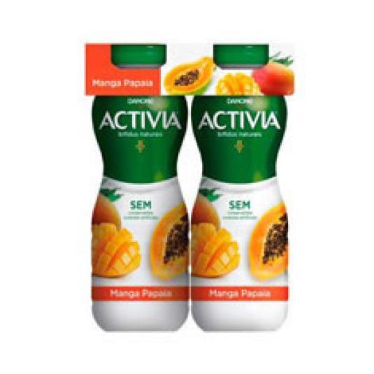 ACTIVIA DRINK MANGO/PAPAYA 4X155GR