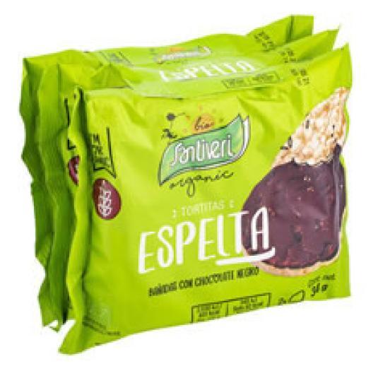 TORTITAS ESPELTA CHOCOLATE BIO 102G