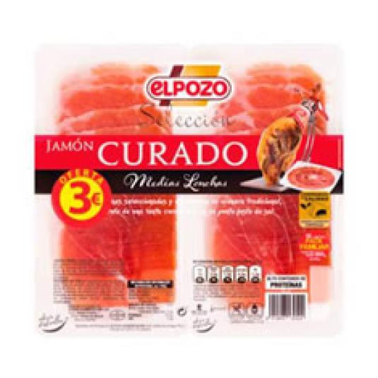 JAMON CURADO MED LON 2X90GR 3E
