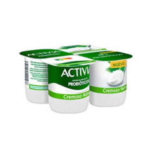 ACTIVIA CREMOSO NATURAL 4X120GR