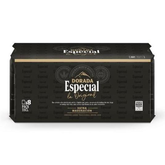 CERVEZA ESPECIAL LATA PACK 8X33CL
