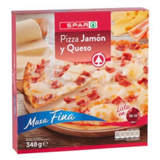 PIZZA JAMON Y QUESO 350GR